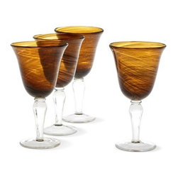 Cindy Crawford Style Set of Harvest Goblets - I love these amber-colored glasses.