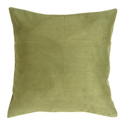 Pillow Decor - Pillow Decor - 18 x 18 Royal Suede Sage Green Throw Pillow - 100% Polyester microfiber, enticingly soft faux suede pillows. The right scale for sectionals, sofas and larger scale chairs. They easily mix with other colors, shapes and sizes in the Royal Suede collection for endless combinations!