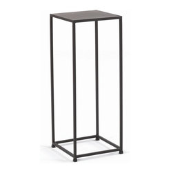 Tag Furniture Group - Urban 30 in. High Pedestal in Coco - Sleek design. Suited for smaller spaces. Made from solid steel rods and steel plate tops. Durable powder coated finish. No assembly required. 11.75 in. W x 11.75 in. D x 30 in. H (16 lbs.)