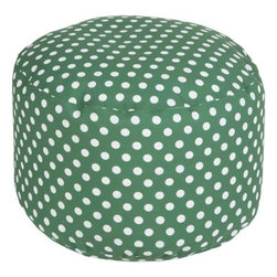 Surya - Polka Dot Poufs in Multiple Colors by Surya - Fun contrasting polka dots completely occupy this round ottoman. Six colors available for a coordinated match. These are a great option for extra seating in family room or a teenage bedroom. Choose your favorite color! (SUR)