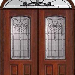 """Prehung Transom Double Door 80 Fiberglass Palacio Arch Lite Glass - SKU#MCT06195_DFAP2-EUBrandGlassCraftDoor TypeExteriorManufacturer CollectionArch Lite Entry DoorsDoor ModelPalacioDoor MaterialFiberglassWoodgrainVeneerPrice4385Door Size Options2(36"""")[6'-0""""]  $0Core TypeDoor StyleDoor Lite StyleArch LiteDoor Panel Style2 PanelHome Style MatchingDoor ConstructionPrehanging OptionsPrehungPrehung ConfigurationDouble Door and Elliptical TransomDoor Thickness (Inches)1.75Glass Thickness (Inches)Glass TypeDouble GlazedGlass CamingBlackGlass FeaturesTempered glassGlass StyleGlass TextureGlass ObscurityDoor FeaturesDoor ApprovalsEnergy Star , TCEQ , Wind-load Rated , AMD , NFRC-IG , IRC , NFRC-Safety GlassDoor FinishesDoor AccessoriesWeight (lbs)753Crating Size36"""" (w)x 108"""" (l)x 89"""" (h)Lead TimeSlab Doors: 7 Business DaysPrehung:14 Business DaysPrefinished, PreHung:21 Business DaysWarrantyFive (5) years limited warranty for the Fiberglass FinishThree (3) years limited warranty for MasterGrain Door Panel"""