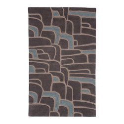 Kelly, Hand-Tufted Wool Rug - Reminiscent of the rocky coast, cascading waterfalls and moss-covered rocks, Kelly is a comforting and familiar pattern. Hand-tufted with 100% New Zealand wool. Cut and loop pile.