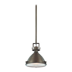 Hudson Valley - 5111-HB Naugatuck Mini Pendant, Historic Bronze - Modern Contemporary Mini Pendant in Historic Bronze from the Naugatuck Collection by Hudson Valley.