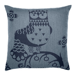 "iittala Taika Cushion Cover 20X20"" Blue - Iittala Taika is part of the whimsical Taika series, illustrated by Klaus Haapaniemi for Iittala in 2007. Available in white, blue and black the design draws upon folklore for a fanciful design that is visually stunning. Taika means 'magic' in Finnish and the classic forms designed by Heikki Orvola combine well with other Iittala collections, brings a playful magic to your table."
