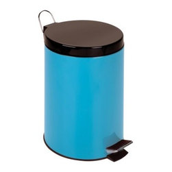 Honey Can Do Step Trash Can 3 Gallon Trash Can - Add a pop of color to practical trash maintenance with the Honey Can Do 12 Liter Step Trash Can. Crafted with durable stainless steel, this round 2.6-gallon trash can boasts a steel foot pedal for easy hands-free operation, a removable inner plastic bucket for quick emptying, and a deep recessed lid that neatly hides trash bags from view. A fold-down metal handle on the lid makes for easy transportation, too. Choose blue, lime green, or purple.About Honey-Can-DoHeadquartered in Chicago, Honey-Can-Do is dedicated to helping you organize your life. They understand that you need storage solutions that are stylish and affordable at the same time. Honey-Can-Do focuses on current design trends and colors to create products that fit your decor tastes while simultaneously concentrating on exceptional quality. When buying a Honey-Can-Do product, you can be sure you are purchasing a piece that has met safety control standards and social compliance methods.