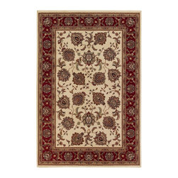 Oriental Weavers - Traditional Ariana 12'x15' Rectangle Ivory-Red Area Rug - The Ariana area rug Collection offers an affordable assortment of Traditional stylings. Ariana features a blend of natural Ivory-Red color. Machine Made of Polypropylene the Ariana Collection is an intriguing compliment to any decor.