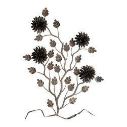 Cyan Design - Cyan Design Accessory - Wall Decor X-37250 - Nature meets industrialism in this Cyan Design wall decor piece. The branches, flowers and leaves are all made entirely of metal pieces. Metal petals, curves and other details create a unique look that is complimented by an industrial-themed Rustic finishing.