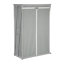Honey Can DO - Storage Closet - Gray, 46 - Create extra closet space or store your off-season garments with our heavy-duty steel rod storage closet. Provides 46 of hanging space with a zippered closure.