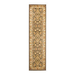 Safavieh - Safavieh Heirloom Rug with Brown / Creme X-82-1152-6661MLH - Safavieh's Heirloom collection offers the beauty and painstaking detail of traditional Persian and European styles with the ease of polypropylene. With a symphony of florals, vines and latticework detailing, these beautiful rugs bring warmth and life to any room.