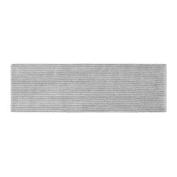 None - Xavier Stripe Platinum Grey 22 x 60 Bath Runner - Enjoy the plush feel of the Xavier Stripe bath and spa collection,while adding a classic note of design and color. This long grey rug is created from durable,machine-washable nylon with non-skid latex backing for safety.