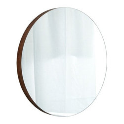 Native Trails - Solace Mirror | Native Trails - Made in North America by Native Trails.The Solace Mirror adds an inviting presence in any bathroom. The solid bamboo frame surrounds the round glass to add texture and warmth to your wall. An optional matching bamboo shelf adds storage space to free up countertops. Product Features: