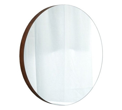 Native Trails - Native Trails   Solace Mirror - Made in North America by Native Trails.The Solace Mirror adds an inviting presence in any bathroom. The solid bamboo frame surrounds the round glass to add texture and warmth to your wall. An optional matching bamboo shelf adds storage space to free up countertops. Product Features: