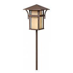 Hinkley Lighting - Harbor Lantern Path Light - The Harbor path light series has Asian, nautical, contemporary, and rustic influences that allow you to add it to any type of landscape design with confidence. Anchor Bronze Finish.