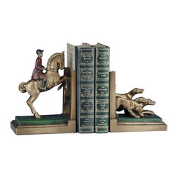 EuroLux Home - Fox Hunt Horse Hound Dogs Horses Cast Bookends - Product Details