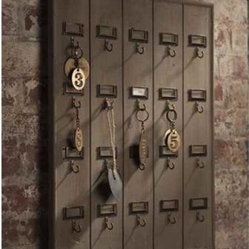 Vintage Wooden Hotel Key Rack