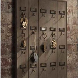 Vintage Wooden Hotel Key Rack - Why hang your keys on a boring old rack when you could have this hotel-inspired key rack? It will bring a bit of vintage modern style to your home, and will inspire you to make sure your key rings are looking snazzy.