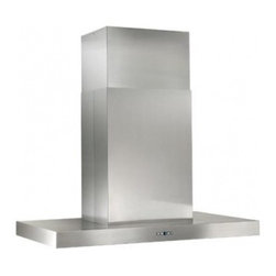 """Best - IPB9E48SB Gorgona 48"""" Chimney Range Hood with 3-Speed Plus Boost Electronic Cont - This design embodies the clean European style that has become a traditional favorite Gorgona is an island hood rarely seen with the power and features it includes"""
