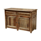 Sierra Living Concepts - Unique Solid Wood Espresso Storage Cabinet Buffet - Add function and beauty to your kitchen, dining space or even bath with this low storage cabinet with doors. Very unique and extremely useful 2 door sideboard cabinet with flip up top. This amazing chest cabinet is hand crafted from beautiful solid Indian Rosewood with a natural finish.