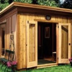Urban Studios by Summerwood - This shed manages to be urban and rustic at the same time. I can imagine this space as a great garden office or studio for those of you running out of space in your house.
