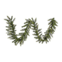 Vickerman 9 ft. jack pine Garland - The Vickerman 9 ft. jack pine Garland is a classic way to deck the halls for Christmas. This nine-foot garland has the look of authentic jack pine branches without the mess. It's a breeze to drape or hang on anything. This garland is made of PVC for lasting beauty. About VickermanThis product is proudly made by Vickerman, a leader in high quality holiday decor. Founded in 1940, the Vickerman Company has established itself as an innovative company dedicated to exceeding the expectations of their customers. With a wide variety of remarkably realistic looking foliage, greenery and beautiful trees, Vickerman is a name you can trust for helping you create beloved holiday memories year after year.