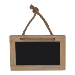 "Enchante Accessories Inc - Sheffield Home Hanging 4""x 2.5"" Wooden Chalkboards with Twine (Set of 3) Natural - Set of 3 Hanging Chalkboard signs great for restaurants & bars. Use these special chalkboards in your store to accent the handmade appeal of your products or services. Use in restaurants for Menu and specials sign. Signs have a nice French bistro feel."