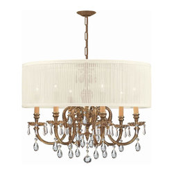 Crystorama - 2916-OB-SAW-CLM Crystorama Brentwood - The brentwood collection from crystorama offers a nice mix of traditional lighting designs with large tailored encompassing shades. Adding either the harvest gold or the antique white shade to these best selling skus opens the door to endless possibilities
