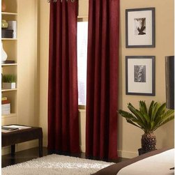 Curtainworks - Curtainworks Cameron Grommet Curtain Panel - 1Q80330ABX - Shop for Curtains and Drapes from Hayneedle.com! Add a touch of color to your living space with the Curtainworks Cameron Grommet Curtain Panel. Available in a variety of color options this machine washable curtain panel is made of 100% polyester ensuring long-lasting durability.About CHF IndustriesCHF Industries based in New York is known for its home textile products and is the largest private-label supplier of retail-specific bedding products. CHF offers a diverse range of window products like panels valances shades kitchen tiers and even window hardware. CHF innovates with fashionable solutions such as energy-efficient interlined window panels taking steps to introduce organic products to protect the environment.