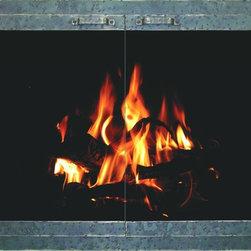 Aged Iron Stoll Fireplace Glass Door - Custom Product -