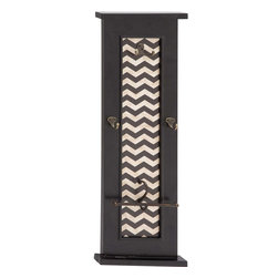 """Benzara - Attractive Styled Wood Wall Hook - Introducing this classy styled Attractive wood wall hook that will help you in keeping your clothes in a proper way with style. This wall hook is made of quality wood that will last for long. The wall hook features shiny texture and comprises of 4 hooks and black borders. You can add this to those bare walls near washroom, door, living space, bedroom else a place of your choice. Besides, this wood wall hook can also be added to hotel rooms, restaurants and similar other set ups. Guests and other viewers will surely love to see this wonderful wood wall hook. This wood wall hook will make you win appreciations from many. You can also wrap this wood wall hook to gift your near and dear ones. Wood Wall Hook measures 12 inches (Width) x 2 inches (D) x 36 inches (H) ; Made of quality wood ; Durable construction; Dimensions: 8""""L x 8""""W x 17""""H"""