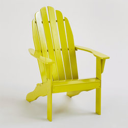Apple Green Classic Adirondack Chair - Not only do I love the classic Adirondack chair design, but the glossy green apple color draws me in.