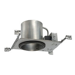 Juno Lighting Group - 6-Inch New Construction LED Recessed Can - IC22LED-G3-27K-1 (SQ) - Dedicated 6-inch LED new construction housing with integral 10.5-watt nominal light engine. Ceiling cutout is 6-7/8 inches. This recessed LED housing provides a light that is similar to a 65-watt BR30 bulb while using only 10.5 watts of energy at 2700 Kelvin which produces a warm white light. Takes (1) 10.5-watt LED bulb(s). Bulb(s) included. Dry location rated.