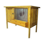 Buffalo Tools - Sportsman Series Premium Pet Hutch - Premium Pet Hutch by Sportsman Series The Sportsman Series Premium Pet Hutch provides small animals with a safe and comfortable home indoors or out. The pet hutch has been designed with features that make caring for your pets easy. A convenient feeding trough allows you to feed without having to open the door and give the animals a chance to escape. A locking door keeps pets safely inside, and the lid lifts so you can remove large items or skittish animals. The solid bottom floor provides both a comfortable surface for your pet, and then easily slide out letting all the debris fall out for easy cleaning. A wire panel in front lets in plenty of fresh air. The durable wood finish can stand up to wind, rain and snow.Ideal for small animals like rabbits and guinea pigs Pet hutch gives pets a secure nesting area, for indoor and outdoor use Lids lifts for easy access, safe locking doors, feeding trough Solid bottom slide out for easy cleaning Dimensions: 39.5 inches L x 19.75 inches W x 30 inches H