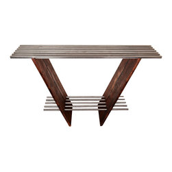 Walsworth Furnishings - Selway Collection: Console Table - Beautiful Console Table made from reclaimed walnut wood and recycled cold roll steel.