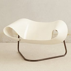 """Anthropologie - Vintage Ribbon Chair - By Leonardi & Franca StagiOne of a kindFiberglass, steel29""""H, 38""""WSeat: 12""""HFrance"""