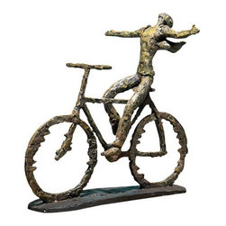 Uttermost - Uttermost 19488  Freedom Rider Metal Figurine - Metal with sage green finish with rust colored highlights.