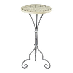 Sterling Industries - Ayer-Large Plant Stand In Grey / White Painted Finish - Ayer-Large Plant Stand In Grey / White Painted Finish