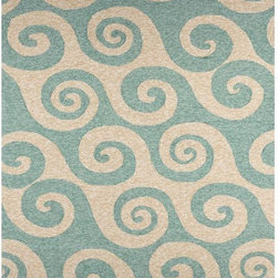 """Jaipur - Jaipur Rug-Wave Hello-Cameo - Navigate towards a fresh new approach to indoor-outdoor rugs with Jaipur's cheerful COASTAL LIVING™ Indoor-Outdoor Collection. This bold range takes its styling cues from the ruggedly chic aesthetic of a casual seaside lifestyle. Polypropylene construction allows the durability needed for outdoor use and a relaxed sense equally at home, indoors or out.Design: Wave HelloColor: Cameo/CameoConstruction: Hand HookedStyle: Indoor-OutdoorFiber: PolypropylenePile: 1/4""""Origin: China"""