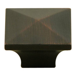 Stone Mill - Stone Mill Hardware Oil Rubbed Bronze Cairo Cabinet Knobs (Pack of 10) - Add a sleek, refined look to your home decor with these cabinet knobs from Stone Mill. These square cabinet knobs come to a pyramid at the top and feature a beautiful oil rubbed bronze finish.