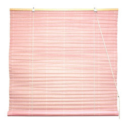 Oriental Unlimited - Shoji Paper Roll Up Blinds in Light Pink (60 in. Wide) - Size: 60 in. Wide. Enhanced by a lightweight design and a light pink finish, this Shoji rice paper roll up blind will be an inviting addition to any decor. Available in your choice of sizes, the blind is hand crafted and will diffuse and soften incoming light while still allowing it to brighten your room. Shoji Paper Blinds are a wonderful accent to any room. They are not easy to find. Made of light pink shoji rice paper. Easy to hang and operate. 24 in. W x 72 in. H. 36 in. W x 72 in. H. 48 in. W x 72 in. H. 60 in. W x 72 in. H. 72 in. W x 72 in. H