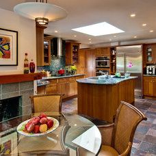 Contemporary Kitchen by Dean J. Birinyi Photography