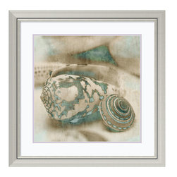 Amanti Art - John Seba 'Coastal Gems I' Framed Art Print 29 x 29-inch - With an eye for detail and a deep appreciation for his subject matter, photographer John Seba celebrates the beauty of seashells. Seen up close in this sepia and patina toned image, the shell takes on sculptural, abstract qualities.