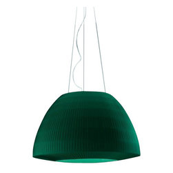 """Axo - Axo Bell 60 Pendant - The Bell 60 pendant from Axo was designed by Fly Design and is part of the Lightecture series and is made in Italy. The medium Bell pendant lamp is for indoor installation and available as a wall and ceiling fixture as well. It has a metal structure and its lamp shade is made from super-smooth flame-retardant ponge fabric binding and available in ten colors: black, green, gold yellow, electric blue, red maroon, white, warm white, brick red and brown.  Product Details:    The Bell 60 pendant from Axo was designed by Fly Design and is part of the Lightecture series and is made in Italy. The medium Bell pendant lamp is for indoor installation and available as a wall and ceiling fixture as well. It has a metal structure and its lamp shade is made from super-smooth flame-retardant ponge fabric binding and available in ten colors: black, green, gold yellow, electric blue, red maroon, white, warm white, brick red and brown.   *This is a custom product that ships in 12-14 weeks.  Please contact us for shipping charges for delivery in 6-8 weeks.  Details:                         Manufacturer:             Axo                            Designer:                        Fly Design                                         Made in:                        Italy                                         Dimensions:                         Height 128"""" (325cm) X Width: 23.6"""" (60cm)                                         Light bulb:                         1 X 23W E26 Flourescent                                         Material:             Metal, Fabric"""