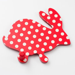 Pakhuis Oost - Polka dots red animal coat rack - sunday in color