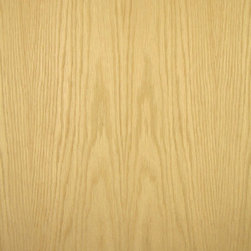 Flat Cut White Oak Veneer - Plain Sliced or flat cut White Oak veneer is wheat colored to a light golden brown and is one of the most common woods used today. Available in a variety of backers and sizes.