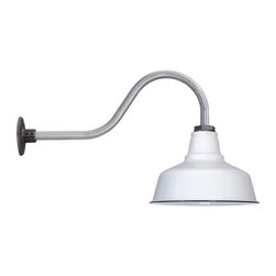 Barn Light Electric Co. - Goodrich™ Esso Porcelain Gooseneck Light - Love the fact that this is called an 'Esso' light as it is a classic gas station light. We love these over exterior doors but also in kitchens lighting countertops. Really affordable and flexible.