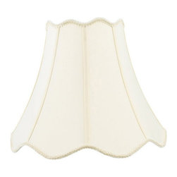 Livex Lighting Inc - Livex S558 Top and Bottom Scallop Shantung Silk Bell Lamp Shade with Fancy Trim - Shop for Shades from Hayneedle.com! About Livex LightingLivex Lighting is a manufacturer and distributor of decorative residential lighting. The company was founded in 1993 and is now headquartered in a 150 000-square-foot facility in Morristown New Jersey. Livex Lighting currently offers over 2 500 products ranging from lighting fixtures for indoor and outdoor applications to lampshades chandelier shades ceiling medallions and accent furniture. The goal of Livex Lighting is to provide the highest-quality product at the most affordable price. We are constantly responding to the ever-changing needs styles and fashions of the lighting industry while always maintaining the highest standards of quality.
