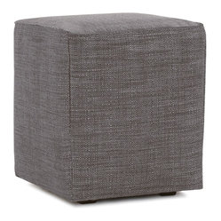 Howard Elliott - Coco Universal Cube Cover - Lounge in style on Coco Cubes. The simple design makes these cubes great to use as side tables, ottomans, alternate seating and more. Velcro fasteners and tailored design make it so you would never know this piece is slipcovered. Cleaning and updating is a breeze, change your look on a whim with new covers!