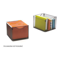 "Safco - Onyx Mesh Cube Bins - Set of 2 - Optional bins for 2172BL Onyx Mesh Cubes , sold in packs of 2. Steel mesh construction. Collapsible for compact storage when not in use. Quick easy assembly, no tools required. Limited Lifetime Warranty. Capacity Weight: 20 lbs. per cube; Compartment Size: 12""W x 14""D x 10""H; Paint Finish: Powder Coat; Stackable: Yes, 3 high; Limited Lifetime Warranty; Dimensions: 12 1/2""w x 14""d x 10""h"