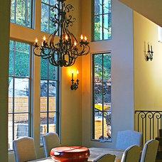 Mediterranean Dining Room by J. Grant Design Studio