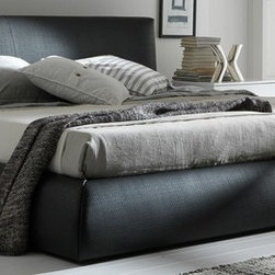 Rossetto Furniture - Coco Brown Platform Bed - 4990007053DUM - Coco Collection Platform Bed